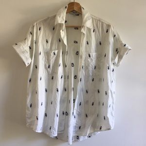 Madewell courier shirt cotton with embroidery